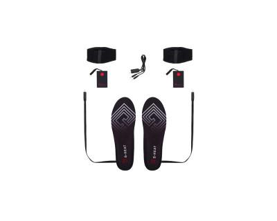 Semelles chauffantes à batterie externe + 1 paire de batteries / Avec télécommande par G-Heat