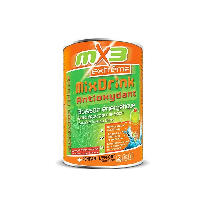 Pack de 3 boissons MIXDRINK ANTIOXYDANTE fraise menthe
