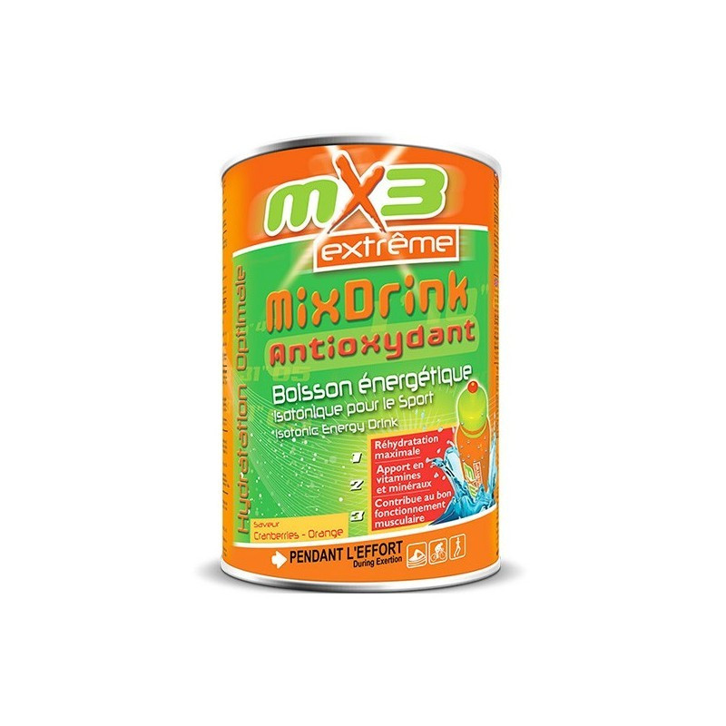 Pack de 3 boissons MIXDRINK ANTIOXYDANTE cranberries orange