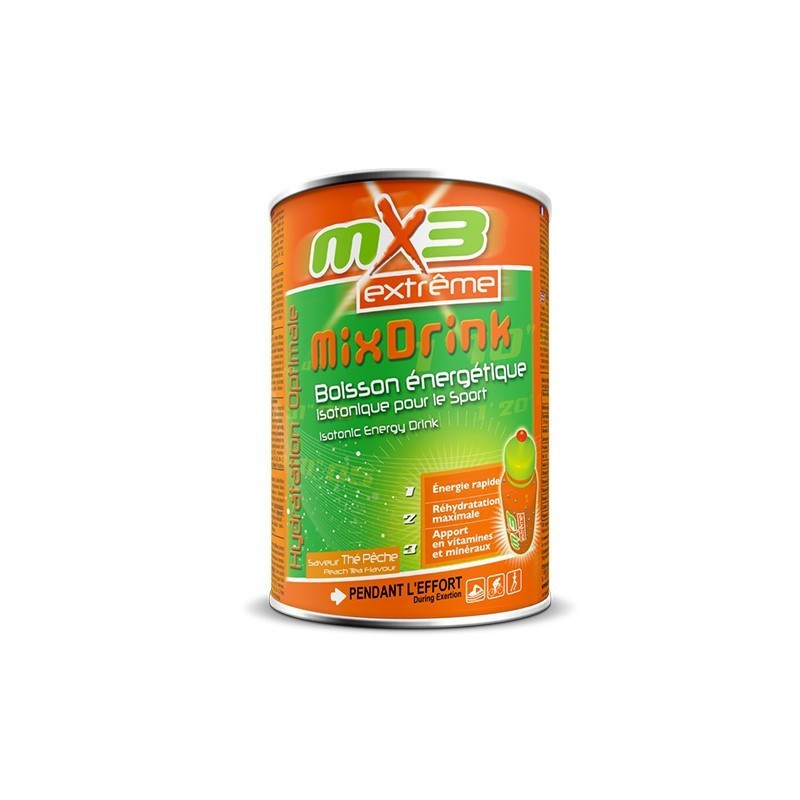 Pack de 3 boissons isotoniques MIXDRINK goût thé pêche