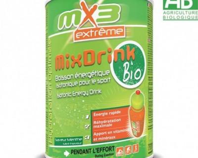 Pack de 3 boissons isotoniques MIXDRINK BIO goût menthe