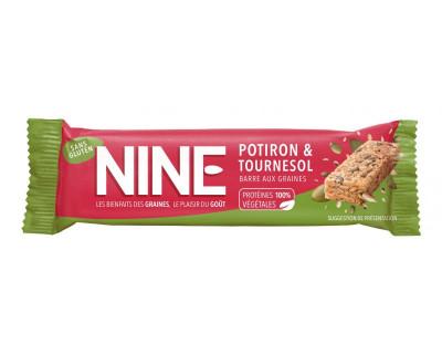 Nine barre énergétique40g graines de potiron et tournesol (10 Barres)