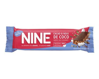 Nine barre énergétique40g cacao noix de coco (10 Barres)